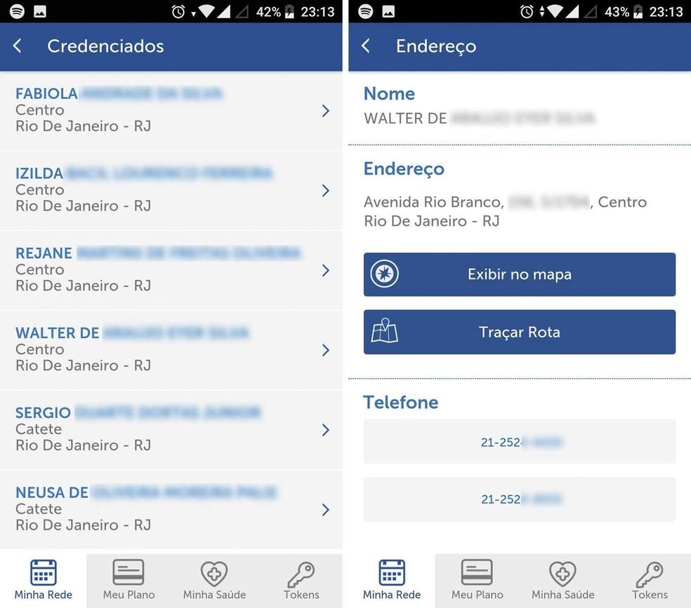 O app irá exibir uma lista com todas as opções compatíveis e suas informações de contato (Foto: Reprodução/Isabela Cabral)