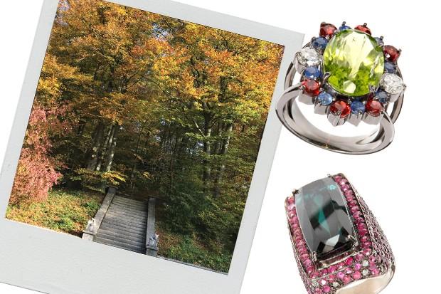 As joias inspiradas no outono suíço, da nova coleção de Mario Pantalena (Foto: Divulgação)