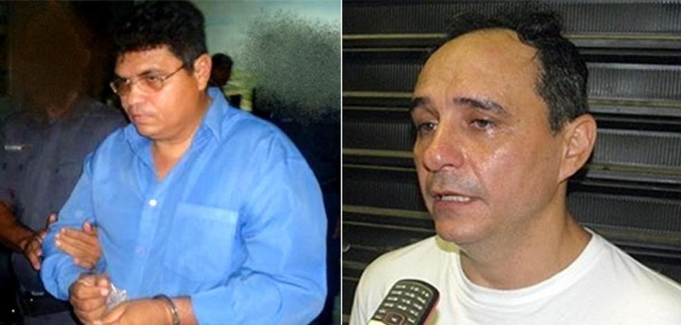 Gilson Neudo Soares do Amaral, ex-pastor evangélico, e o comerciante Lailson Lopes, o 'Gordo da Rodoviária', são acusados de planejar a morte de F. Gomes (Foto: Rosivan Amaral e Willacy Dantas)