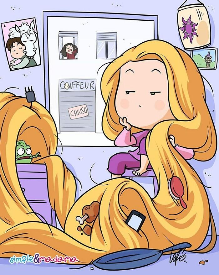 Rapunzel (Foto: Riproduci: Panda annoiato)