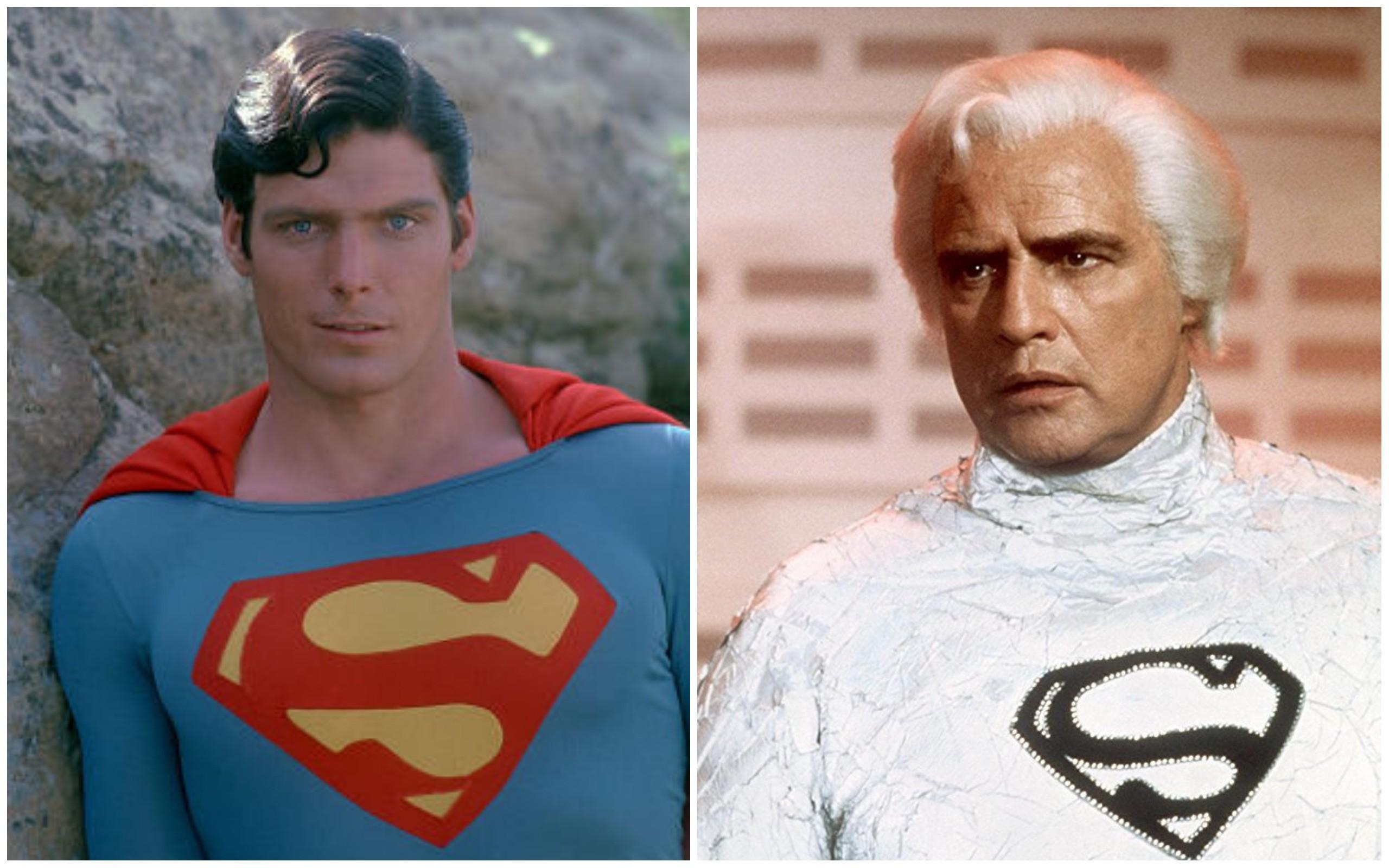 Christopher Reeve e Marlon Brando em Superman - O Filme (Foto: Divulgação)