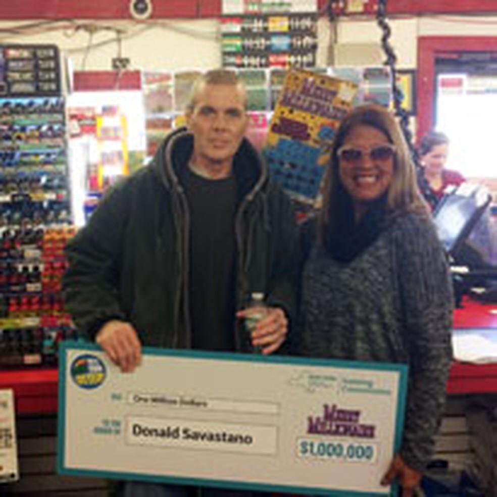 Donald Savastano morreu após receber prêmio na loteria (Foto: Reprodução/ Nylottery)