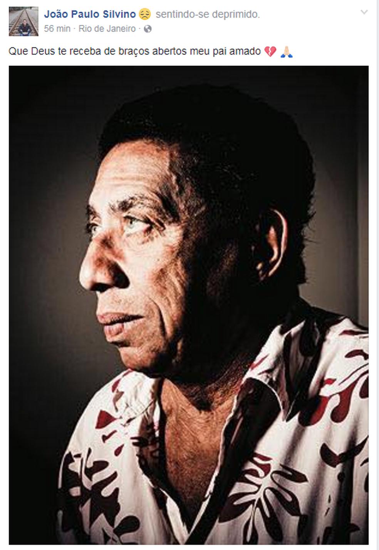 João Paulo Silvino faz post em homenagem ao pai (Foto: Reprodução/Facebook)