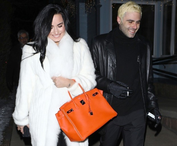 Demi Lovato e Henri Levy (Foto: Backgrid)
