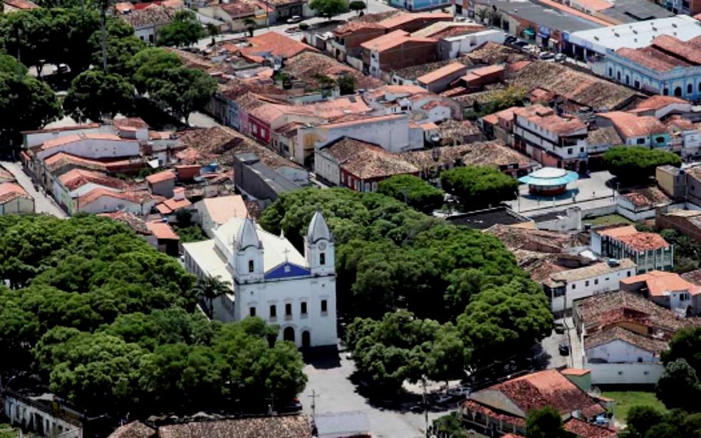 Imagem aérea da cidade de São Gonçalo dos Campos, na Bahia (Foto: Divulgação/Prefeitura de São Gonçalo dos Campos)