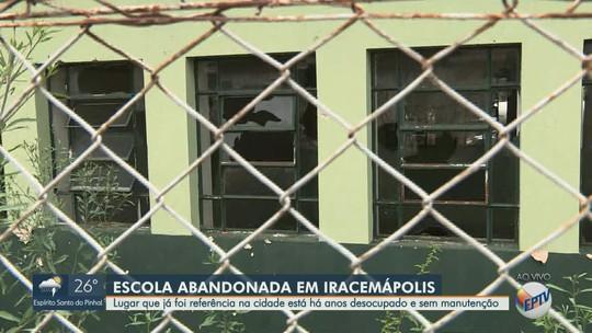 Moradores denunciam abandono de imóvel onde funcionava escola em Iracemápolis