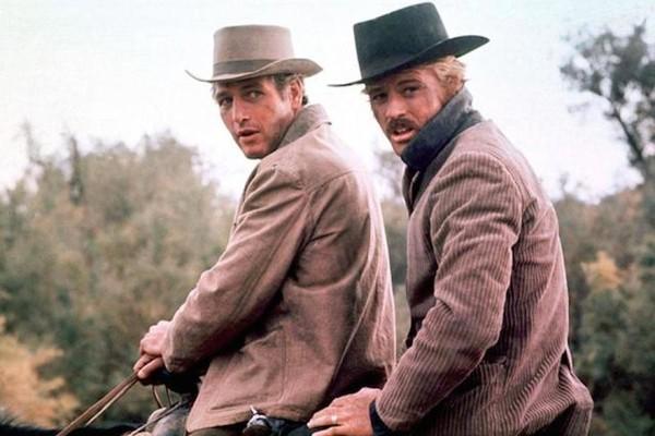 Paul Newman e Robert Redford em Butch Cassidy (1969) (Foto: Reprodução)