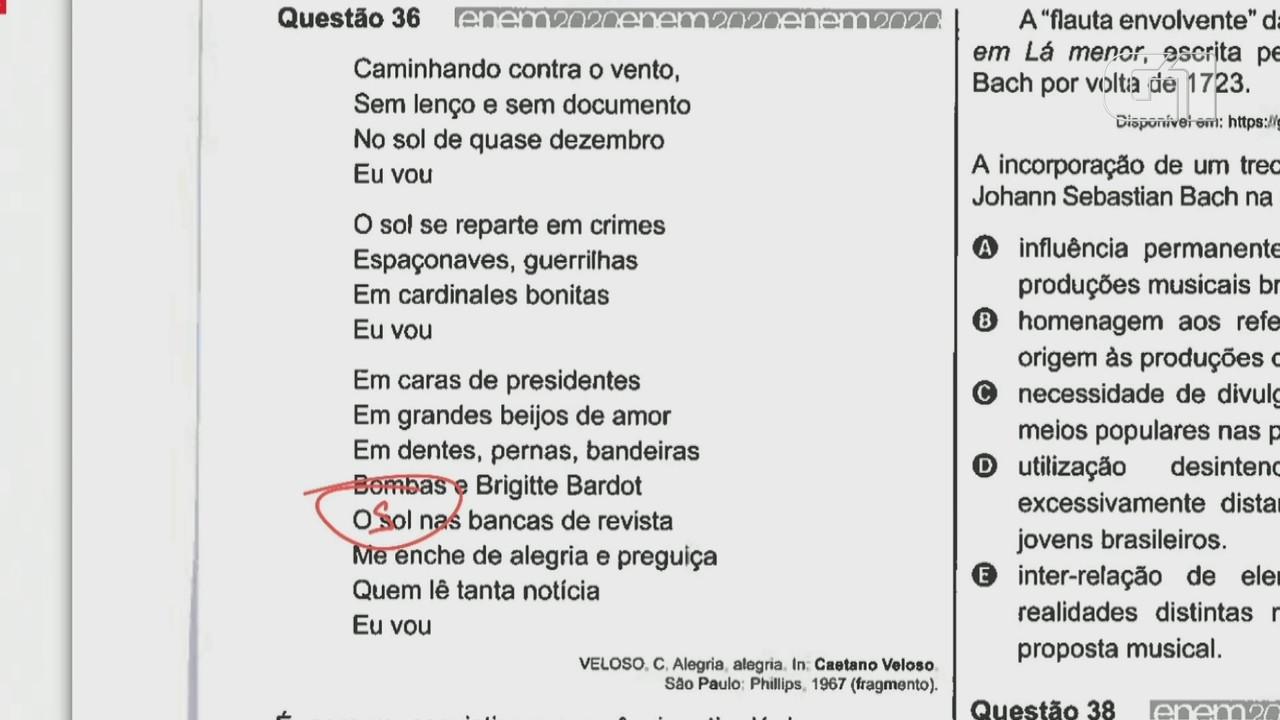 Enem 2020: professor faz a correção da questão 36 da prova branca