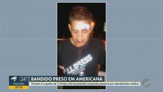 Suspeito de roubo em Americana é preso em Santa Bárbara d'Oeste durante atendimento médico