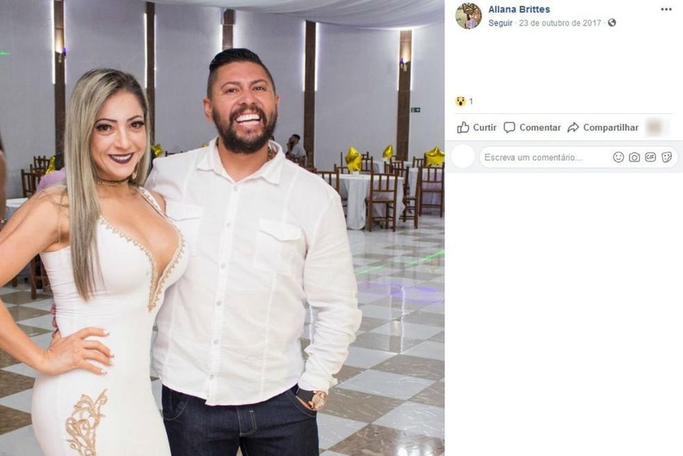 MP pediu que Cristiana Brittes, esposa de Edison Brittes, vá a júri popular por homicídio qualificado — Foto: Reprodução/Facebook