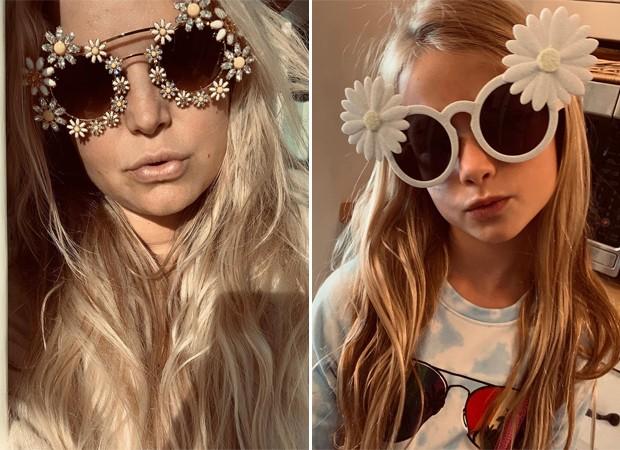 Jessica Simpson e a filha, Maxwell (Foto: Reprodução / Instagram)