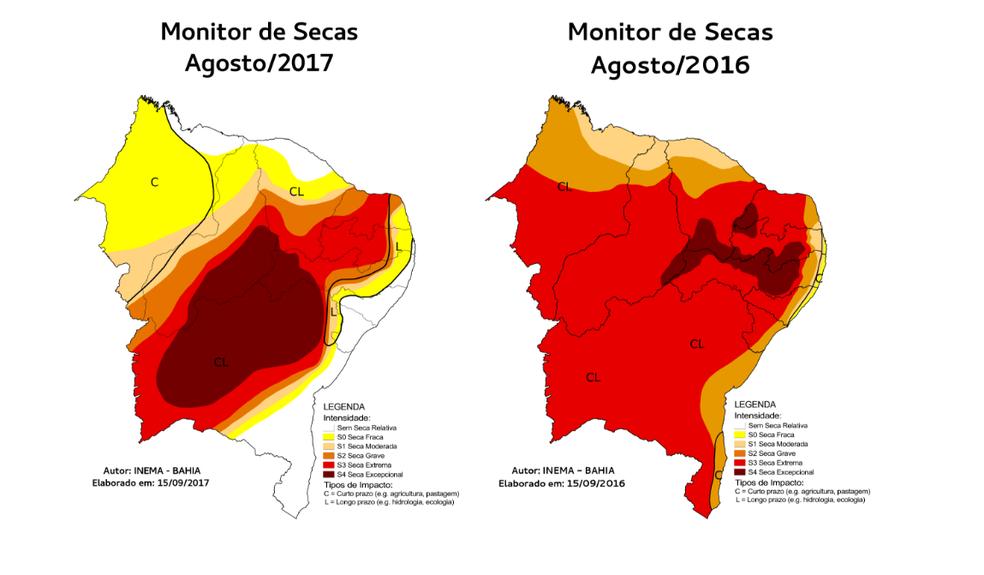 Aplicativo apresenta situação da seca no Nordeste brasileiro (Foto: Reprodução)