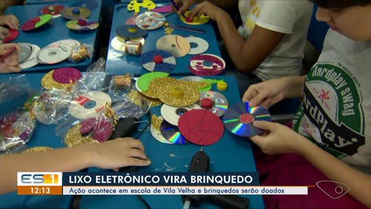 Ação em escola de Vila Velha, ES, transforma lixo eletrônico em brinquedos
