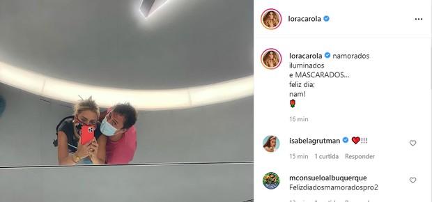 Carolina Dieckmann e o marido, Tiago Worcman (Foto: Reprodução/Instagram)