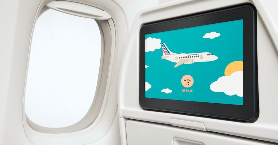 Air France oferece programas de meditação para as crianças durante os voos (Foto: Divulgação)