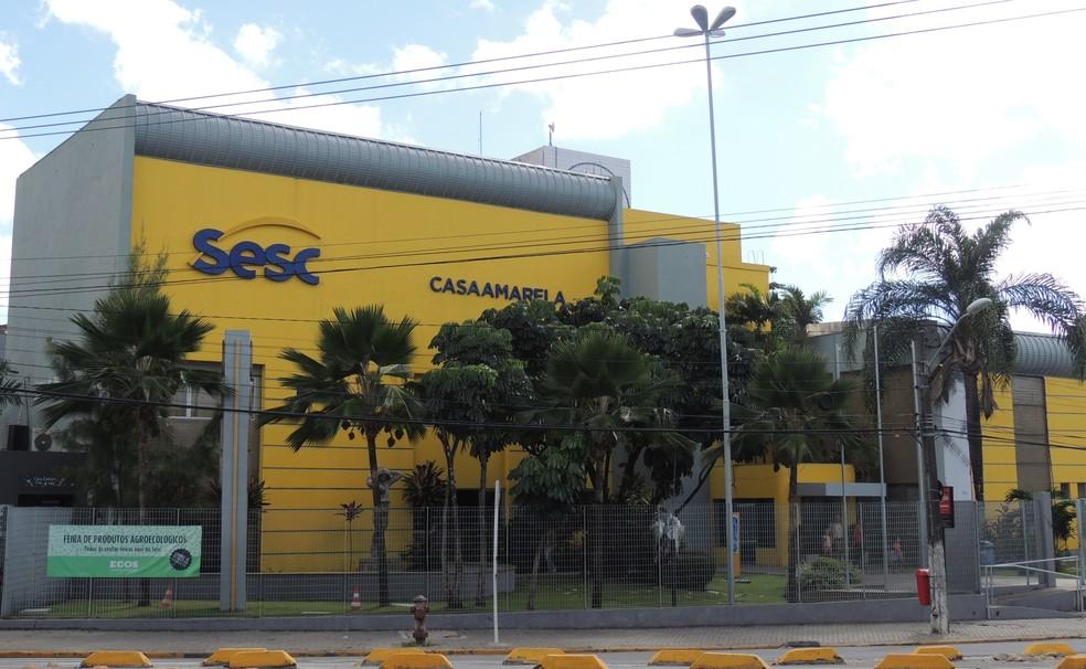 O Sesc de Casa Amarela fica localizado na Avenida Norte, no Recife — Foto: Anderson Freitas/MakerMídia/Divulgação