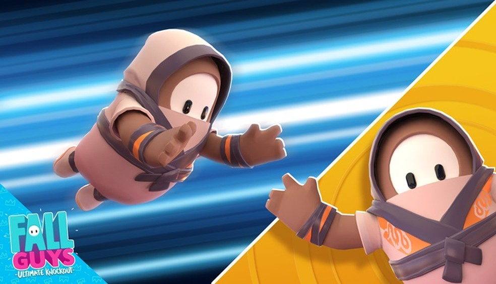 Junte créditos e transforme seu Fall Guy em ninja — Foto: Divulgação/Fall Guys