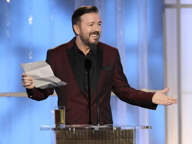 Ricky Gervais volta como apresentador do Globo de Ouro 'pela última vez' - Notícias - Plantão Diário