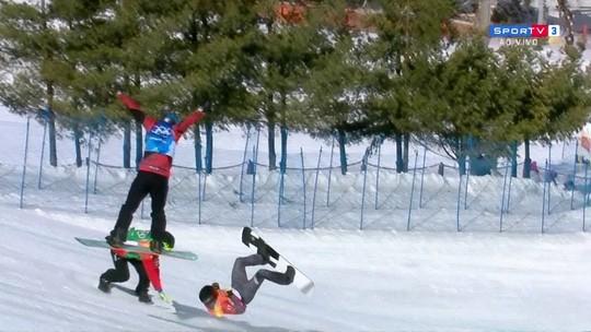 As quedas e os acidentes que assustaram nos Jogos de Inverno de PyeongChang