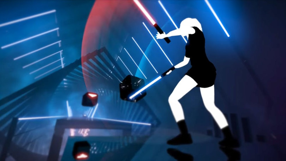 Beat Saber é um título de PS VR e chega em 20 de novembro â?? Foto: Divulgação/VRPlus