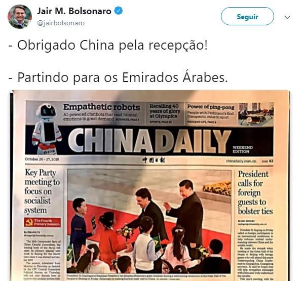 bolsonaro-china-tuite (Foto: Reprodução/Twitter)