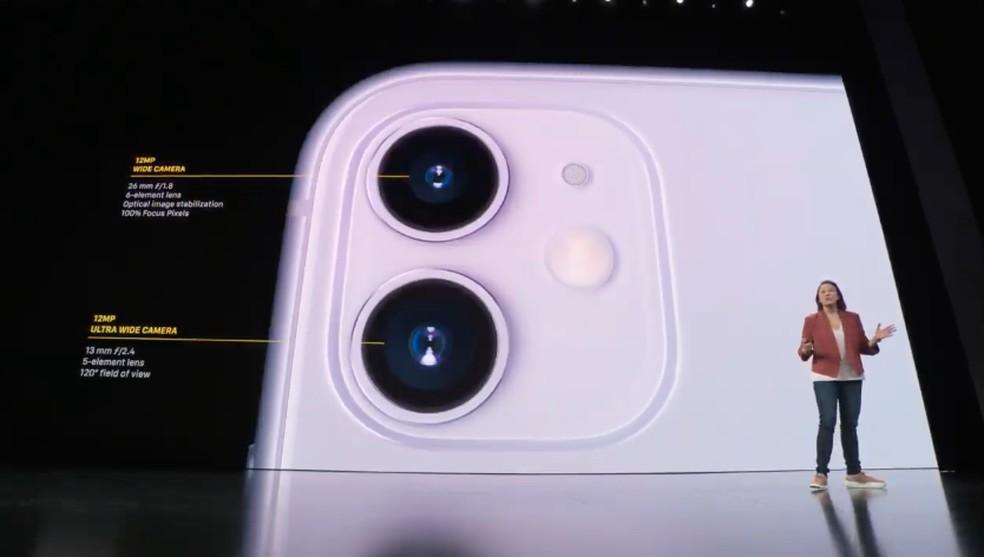 Detalhes da câmera ultra wide do iPhone 11 — Foto: Reprodução/Apple