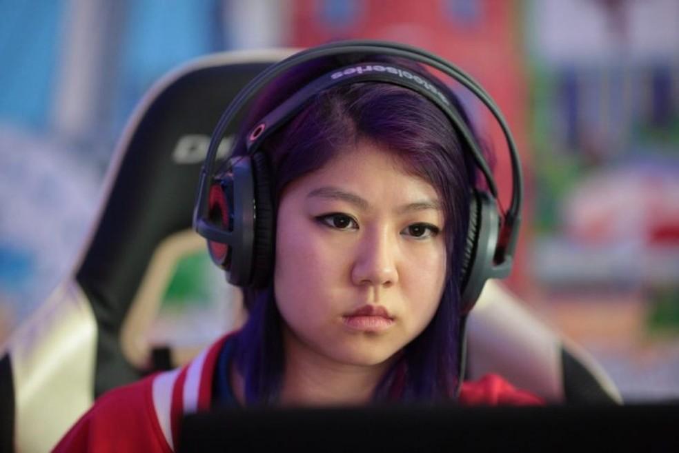 GLHuiHui é a maior competidora feminina de Hearthstone da atualidade. (Foto: Reprodução/WESG)