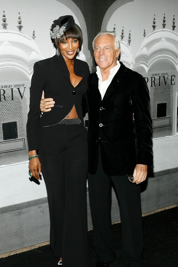 Naomi Campbell e Giorgio Armani (Foto: Getty Images)