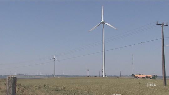 Complexo eólico no Oeste de SC deverá produzir energia para 1,2 milhão de pessoas