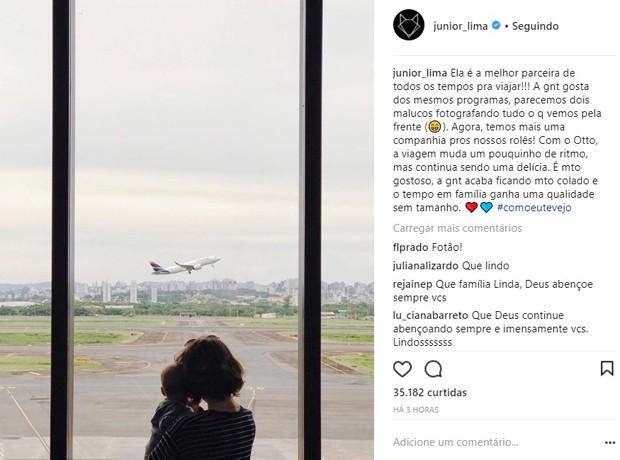 Junior Lima faz post sobre a mulher e o filho (Foto: Reprodução/Instagram)