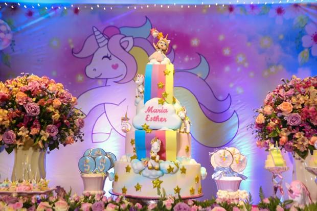 Aniversário de Maria Esther, filha de Solange Almdeida (Foto: Guirlanda Lima/Divulgação)
