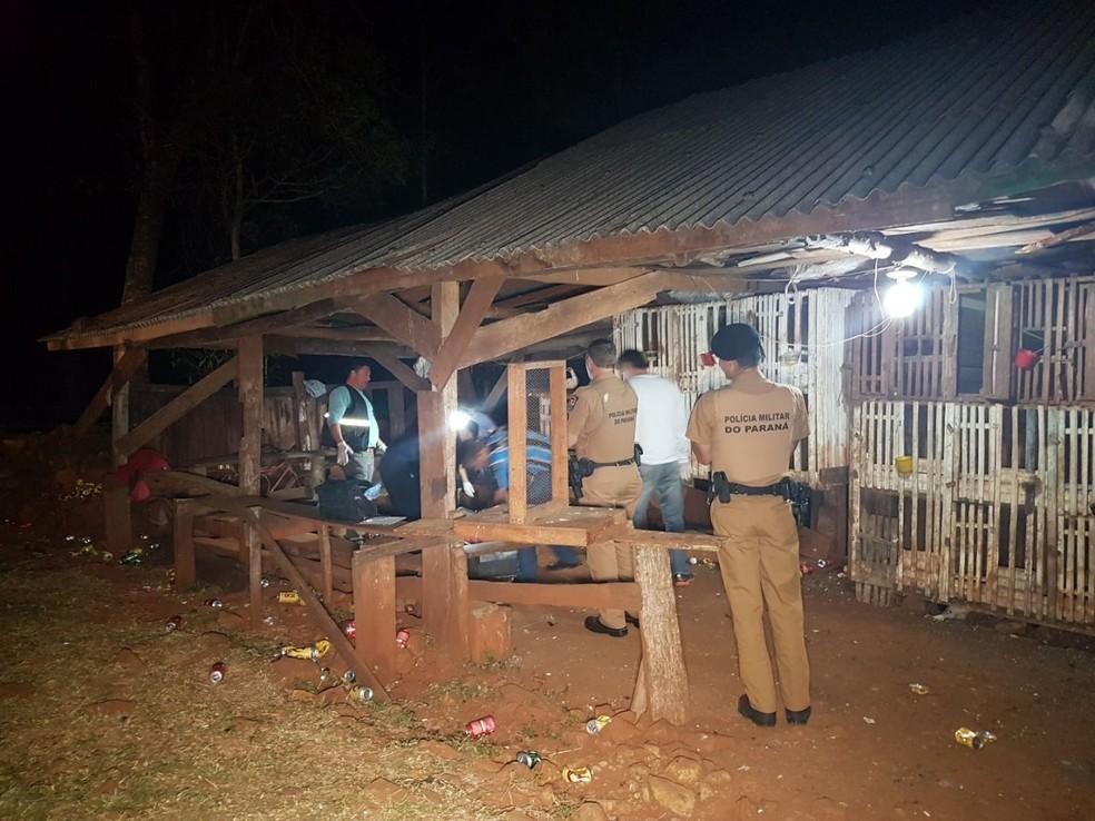 Discussão em rinha de galo termina com uma morte e dois feridos em Realeza (Foto: Ivania Bonatto)
