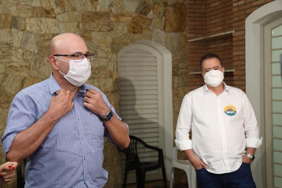 Dário Saadi, do Republicanos, é eleito prefeito de Campinas. Jonas Donizette, atual mandatário, está no comitê de campanha — Foto: Thomaz Marostegan/G1