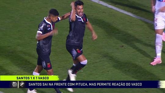 Comentaristas analisam empate entre Vasco e Santos pelo Brasileirão