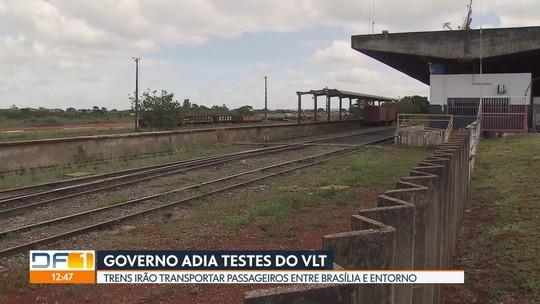GDF adia testes com trem que liga Brasília a Valparaíso; nova previsão é em abril