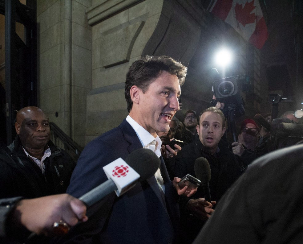 Primeiro-ministro canadense, Justin Trudeau — Foto: Justin Tang/The Canadian Press via AP
