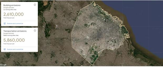 Nova ferramenta do Google calcula a pegada de carbono das cidades (Foto: Divulgação)