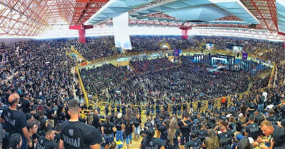 Evento gospel no Goiânia Arena, em Goiânia, Goiás — Foto: Gabriella Caroline/Divulgação