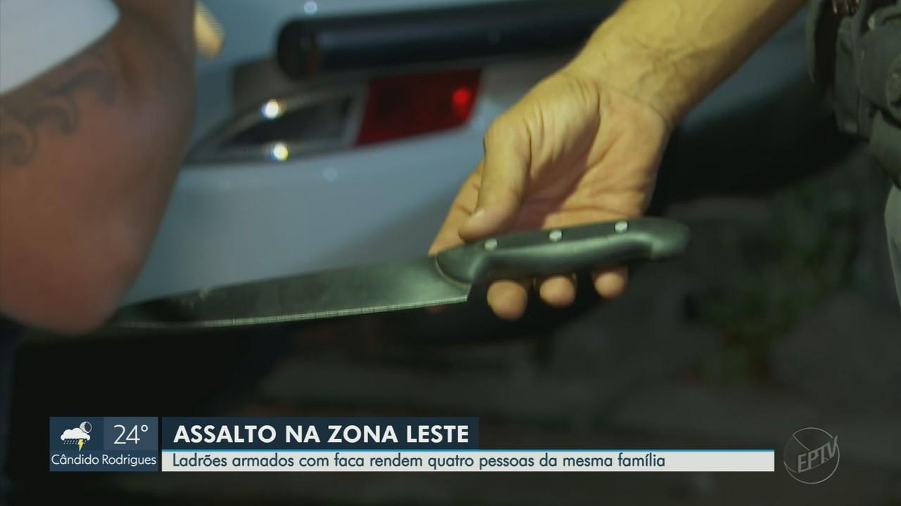 Ladrões com faca fazem família refém em Ribeirão Preto