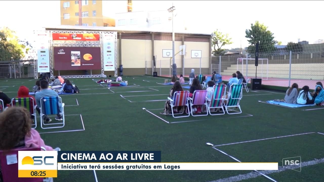 Cinema ao ar livre terá sessões gratuitas em Lages