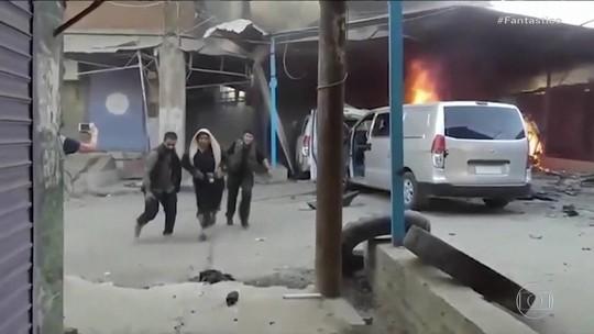 Comboio levando civis e jornalistas é atingido por bombardeio turco