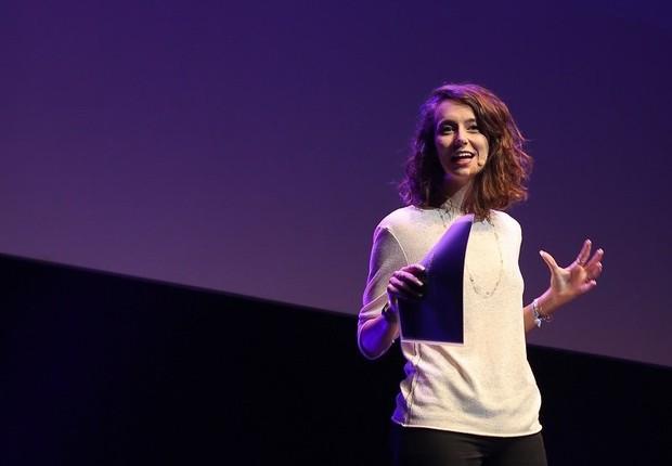 Camila Achutti durante o Summit de Inovação da Sigularity University (Foto: Divulgação/openspace)