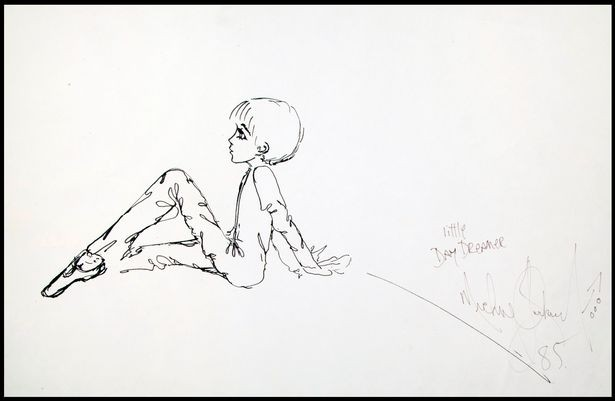 Desenho feito por Michael Jackson em 1985 (Foto: Divulgação: Julien's Auctions)