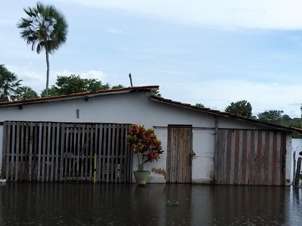 Barras é o município mais afetado pelas inundações no Norte do Piauí — Foto: Tiago Mendes /TV Clube