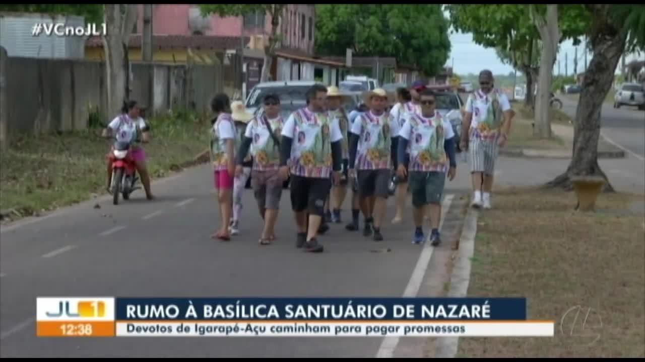 Devotos de Igarapé-Açu caminham para pagar promessas no Círio de Nazaré