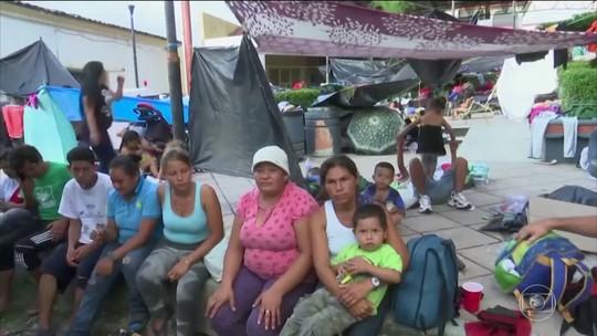 Governo mexicano oferece visto temporário a imigrantes de caravana no México