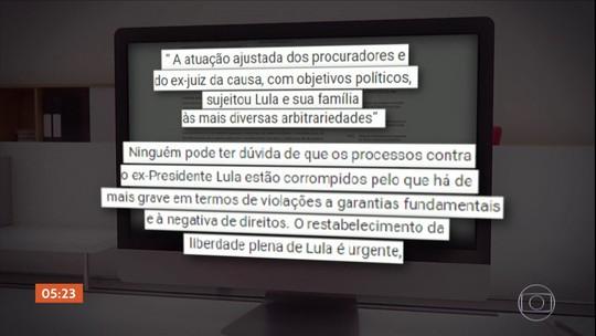 'Restabelecimento da liberdade plena é urgente', declara defesa de Lula