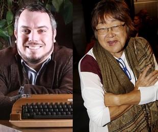 Maurício Gyboski e Tizuka Yamasaki | Reprodução e Marcos Ramos