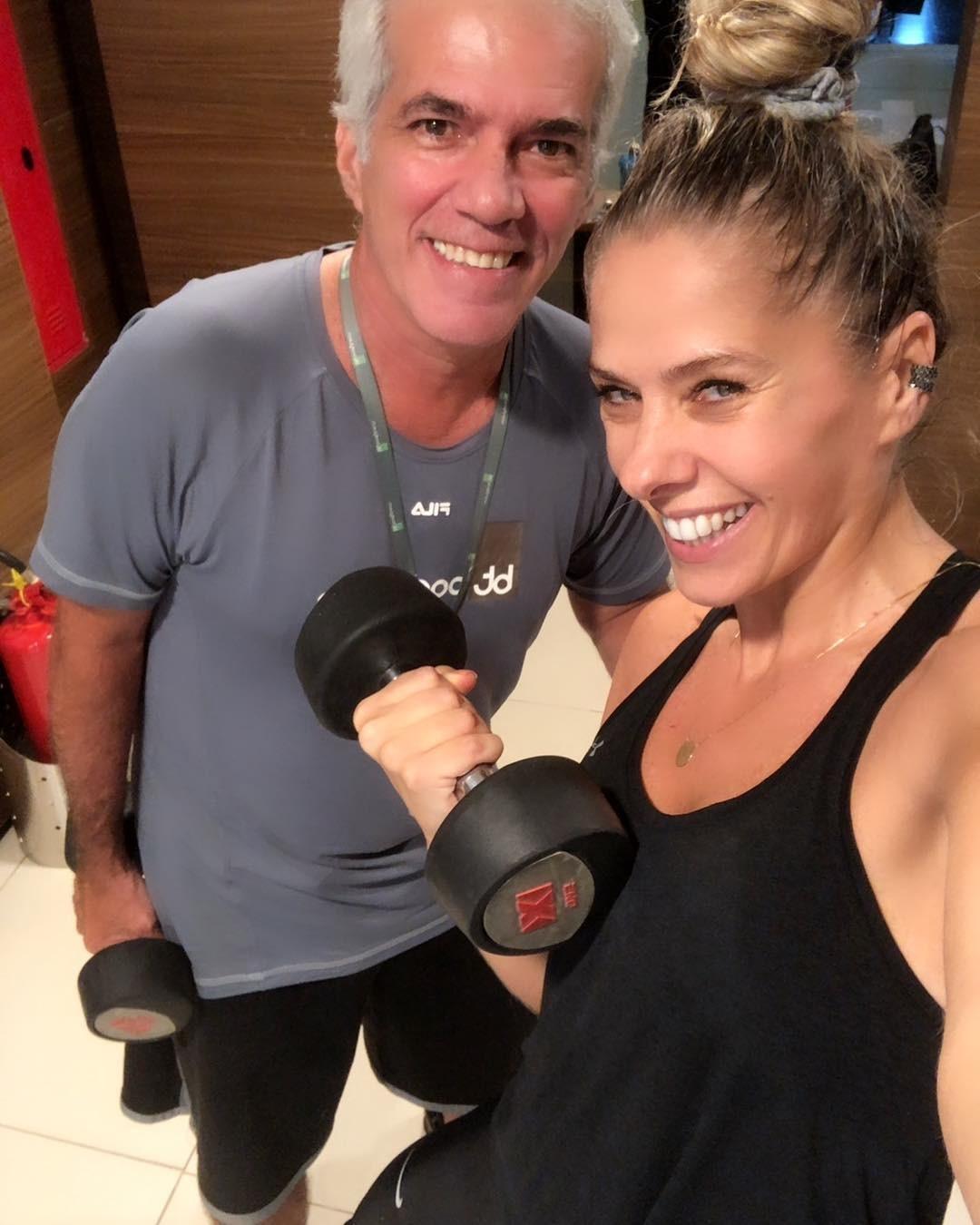 Adriane Galisteu no segundo treino do dia (Foto: Reprodução/Instagram)