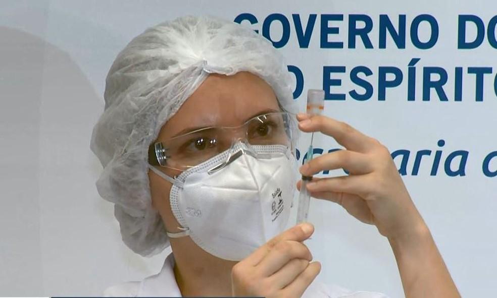 Vacina Covid ES — Foto: Reprodução/ TV Gazeta